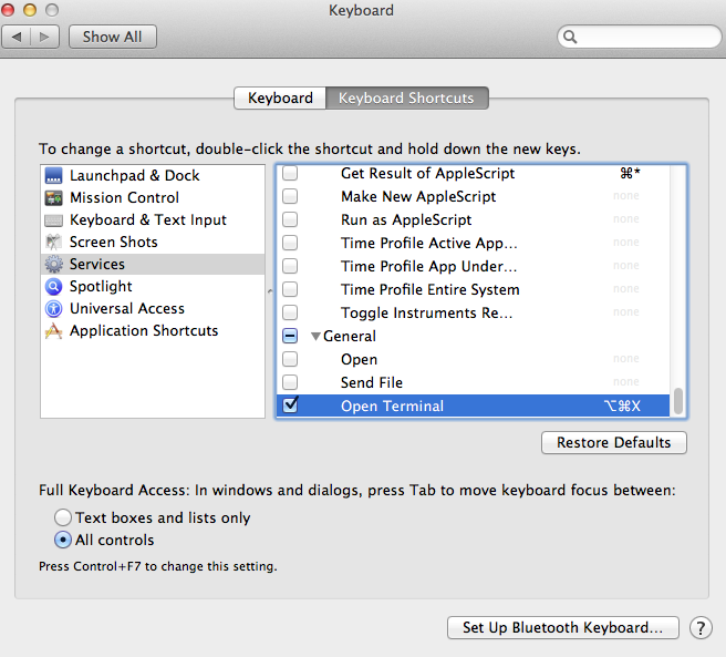 Mac OS X: Launch Terminal from keyboard shortcut · Claudio d'Angelis